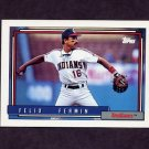1992 Topps Baseball #632 Felix Fermin - Cleveland Indians
