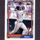 1992 Topps Baseball #611 Brian Hunter - Atlanta Braves
