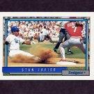 1992 Topps Baseball #581 Stan Javier - Los Angeles Dodgers