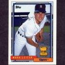 1992 Topps Baseball #537 Mark Leiter - Detroit Tigers