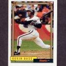 1992 Topps Baseball #513 Kevin Bass - San Francisco Giants