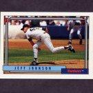 1992 Topps Baseball #449 Jeff Johnson - New York Yankees