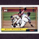 1992 Topps Baseball #445 Matt Williams - San Francisco Giants
