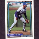 1992 Topps Baseball #418 Alfredo Griffin - Los Angeles Dodgers