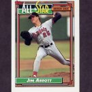 1992 Topps Baseball #406 Jim Abbott AS - California Angels