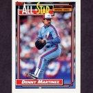 1992 Topps Baseball #394 Dennis Martinez AS - Montreal Expos