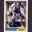 1992 Topps Baseball #294 Dave Valle - Seattle Mariners