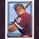 1992 Topps Baseball #258 Jim Lindeman - Philadelphia Phillies