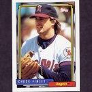 1992 Topps Baseball #247 Chuck Finley - California Angels