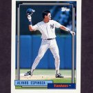 1992 Topps Baseball #243 Alvaro Espinoza - New York Yankees