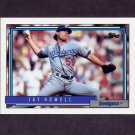 1992 Topps Baseball #205 Jay Howell - Los Angeles Dodgers