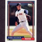 1992 Topps Baseball #163 Dana Kiecker - Boston Red Sox