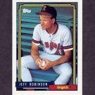 1992 Topps Baseball #137 Jeff D. Robinson - California Angels
