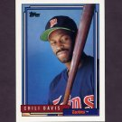 1992 Topps Baseball #118 Chili Davis - Minnesota Twins