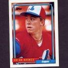 1992 Topps Baseball #073 Brian Barnes - Montreal Expos