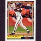 1992 Topps Baseball #065 Willie McGee - San Francisco Giants