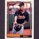 1992 Topps Baseball #052 Juan Bell - Baltimore Orioles
