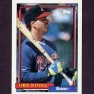 1992 Topps Baseball #049 Damon Berryhill - Atlanta Braves