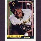 1992 Topps Baseball #043 Jose Lind - Pittsburgh Pirates