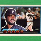 1989 Topps BIG Baseball #066 Junior Ortiz - Pittsburgh Pirates