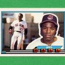 1989 Topps BIG Baseball #013 Mel Hall - Cleveland Indians