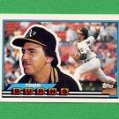 1989 Topps BIG Baseball #010 Todd Burns - Oakland A's