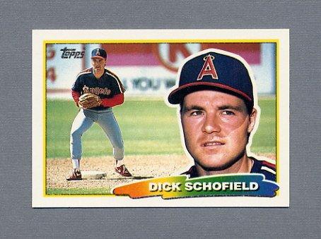 1988 Topps BIG Baseball #204 Dick Schofield - California Angels