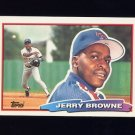 1988 Topps BIG Baseball #163 Jerry Browne - Texas Rangers