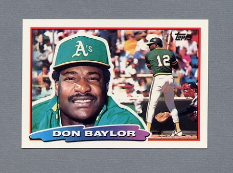 1988 Topps BIG Baseball #162 Don Baylor - Oakland A's