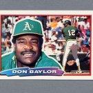 1988 Topps BIG Baseball #162 Don Baylor - Oakland A's