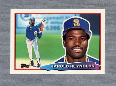 1988 Topps BIG Baseball #142 Harold Reynolds - Seattle Mariners
