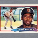 1988 Topps BIG Baseball #130 Chris Brown - San Diego Padres