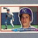 1988 Topps BIG Baseball #115 Kevin Seitzer - Kansas City Royals
