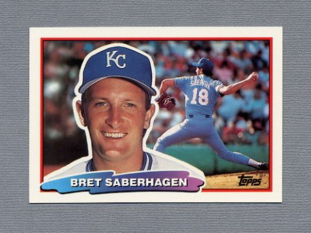 1988 Topps BIG Baseball #094 Bret Saberhagen - Kansas City Royals