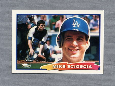 1988 Topps BIG Baseball #072 Mike Scioscia - Los Angeles Dodgers