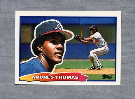 1988 Topps BIG Baseball #068 Andres Thomas - Atlanta Braves