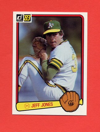 1983 Donruss Baseball #651 Jeff Jones - Oakland A's