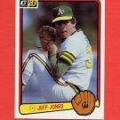 1983 Donruss Baseball #651 Jeff Jones - Oakland A's