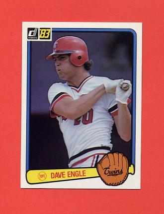 1983 Donruss Baseball #646 Dave Engle - Minnesota Twins