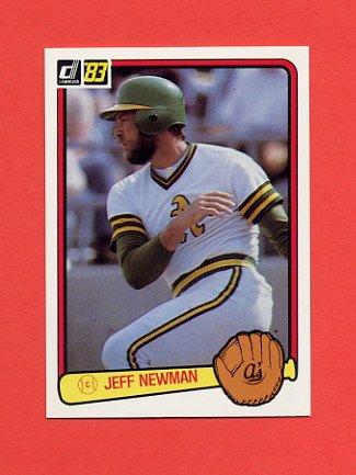 1983 Donruss Baseball #635 Jeff Newman - Oakland A's