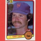 1983 Donruss Baseball #634 Terry Leach - New York Mets