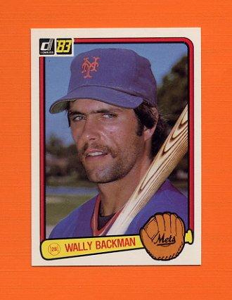 1983 Donruss Baseball #618 Wally Backman - New York Mets