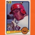 1983 Donruss Baseball #615 Mickey Hatcher - Minnesota Twins