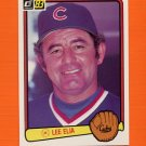 1983 Donruss Baseball #614 Lee Elia MG - Chicago Cubs