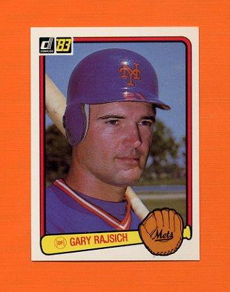 1983 Donruss Baseball #599 Gary Rajsich - New York Mets