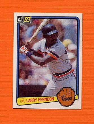 1983 Donruss Baseball #585 Larry Herndon - Detroit Tigers