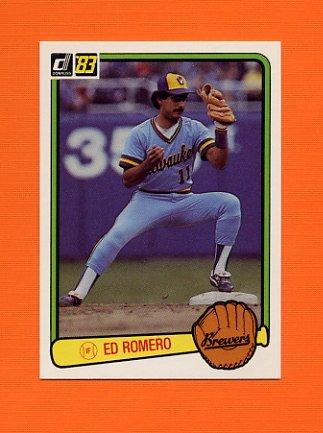 1983 Donruss Baseball #584 Ed Romero - Milwaukee Brewers