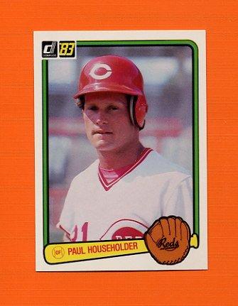 1983 Donruss Baseball #566 Paul Householder - Cincinnati Reds