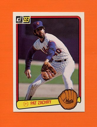 1983 Donruss Baseball #560 Pat Zachry - New York Mets