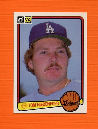 1983 Donruss Baseball #536 Tom Niedenfuer - Los Angeles Dodgers